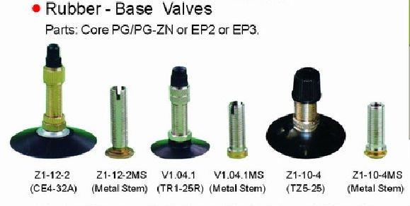 Bike Valve Types Rubber valve of bicycle tube