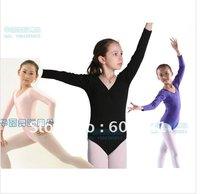 New Girls Long-sleeve Gymnastics Leotards Ballet Costume Tutu Dance Skate Dress SZ 3-10Y, Free Shipping!