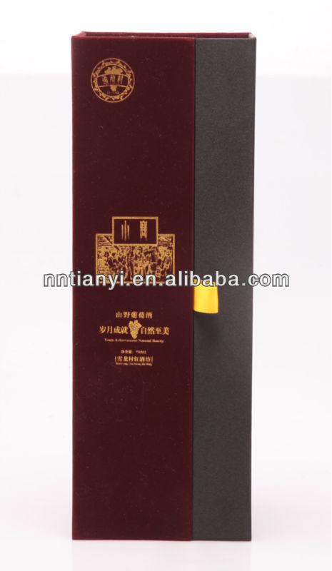 Excellent Cardboard Logo Printed Wine Bottle Carrier Box