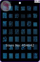 Наклейки для ногтей 1pc rectangle 14.5*9.5cm Nail Art Stamp Stamping Template Plates + 1 pc scaper +1 pc stamper CK Model
