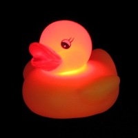 2x Baby Bath Toy Color Changing Yellow Duck LED Lamp Light toy duck  #1756