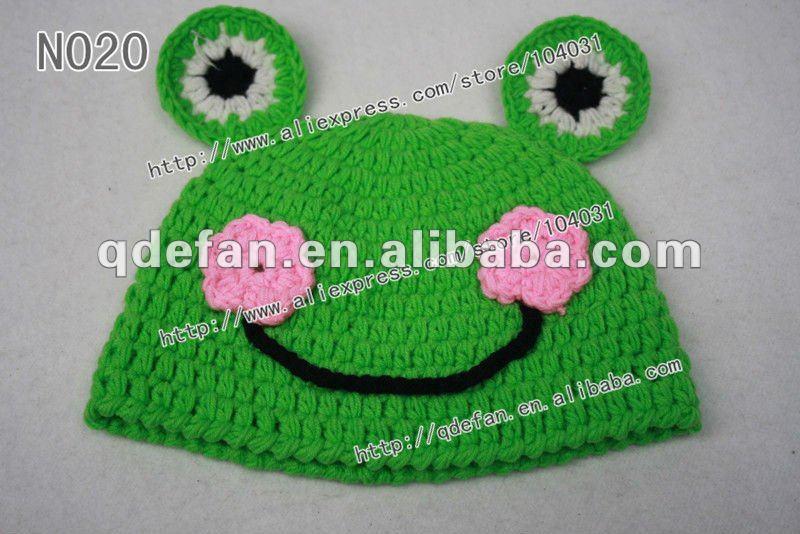 Crochet Frog Hat Cotton crochet frog hat