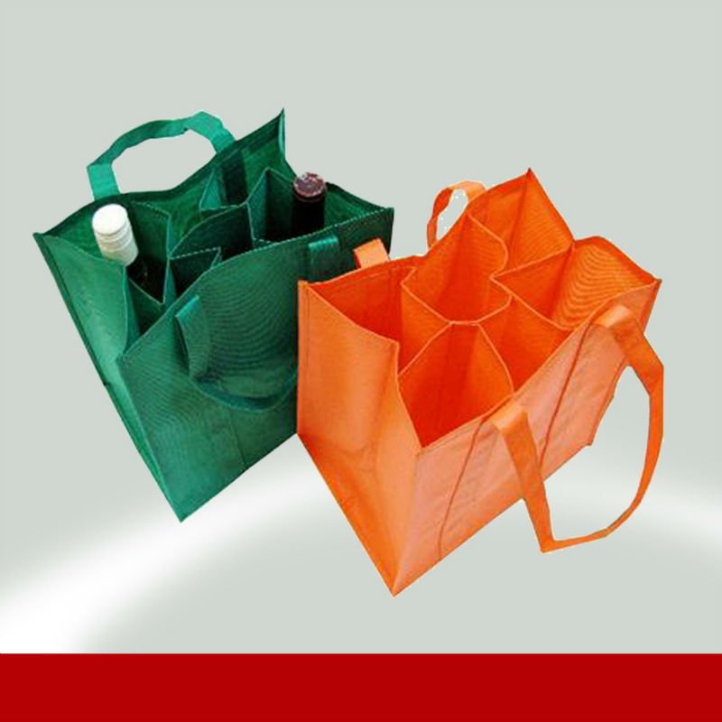 Non Woven Promotional Wine Bottle Tote Bags