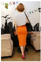 Женская юбка Good price, candy colors fashion High waist pure color stretch suit skirt