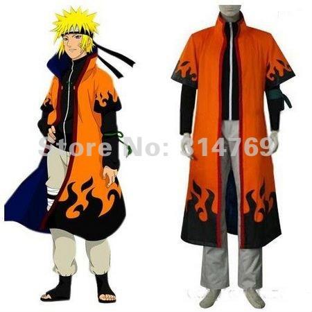 Мода Amime наруто косплей костюм плащ наруто узумаки шестой хокаге ...