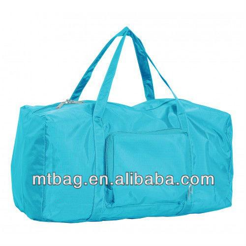 eco green new design promotional folding duffel bag travel