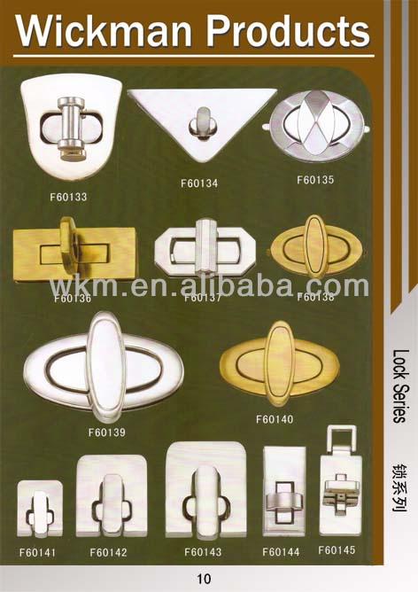 Golden cheap Fashion bag accessory metal parts
