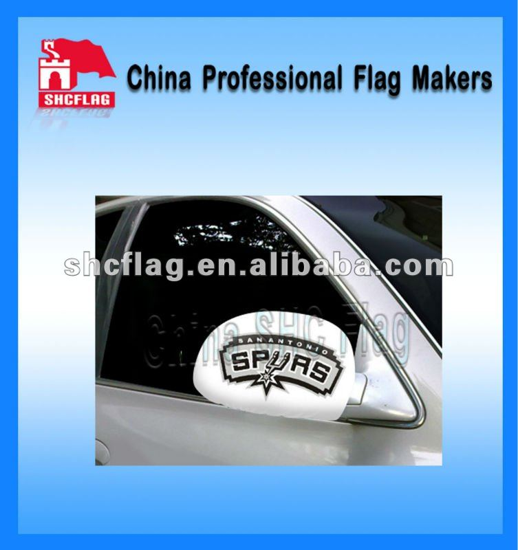 2012 Hot Eco-friendly Custom Logo Design Printed Car Mirror Flag