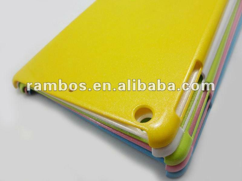 Pure color glitter back hard pc case for iPad mini
