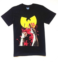 Мужская футболка Men's fashion t-shirt 2012 Wu Tang Clan mishka obey ymcmb crooks and catles hip hop fashion 100%cotton t_shirt