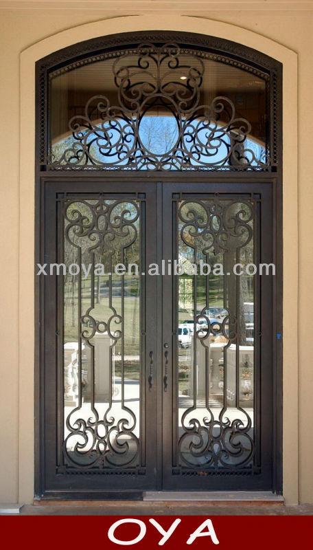Hierro puertas de arco de metal para puertas de arco con for Puertas de metal con vidrio