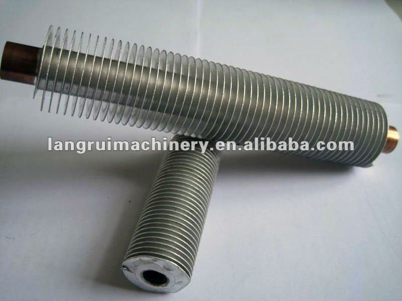 Copper&Aluminum composit finned tube/heat pipe