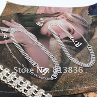 BB172-091!Min Order is USD10!Classic Fashion Jet Shoulder Bra Strap Crystal Rhinestone Imitation Diamond Lady' Apparel Jewelry