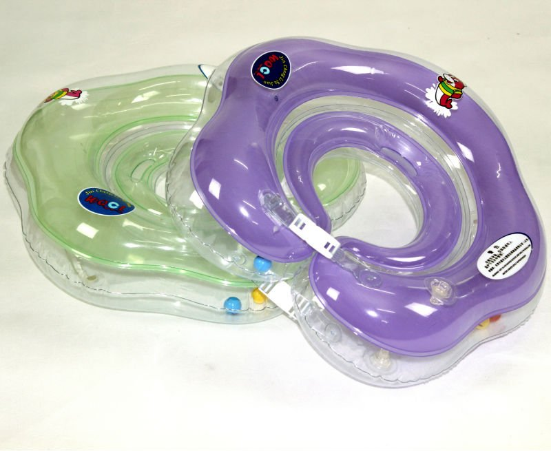 High Quality Purple Big Inflatable Baby Float Neck Swimming Ring