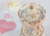 Музыкальная шкатулка HOT sale Exquisite mini Carousel music box, whirligig, merry-go-round, wonderful gift