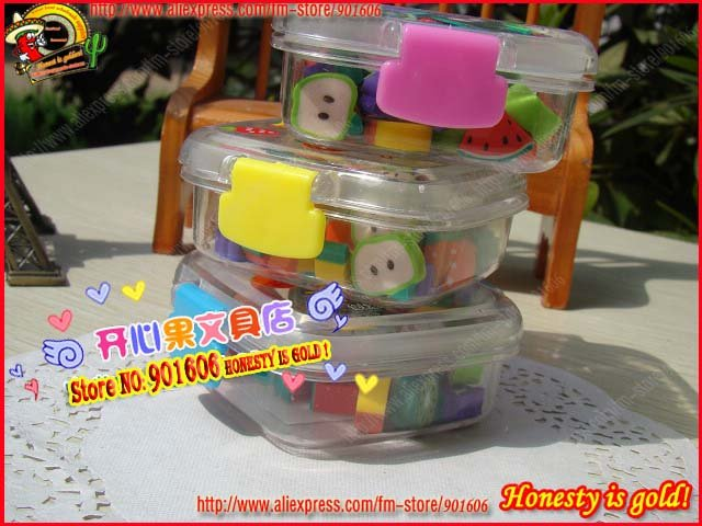 Free Shipping,Lunch boxes Package Series-Fruit rubber Eraser/Funny earser-30 pcs/pack,10 pack/lot