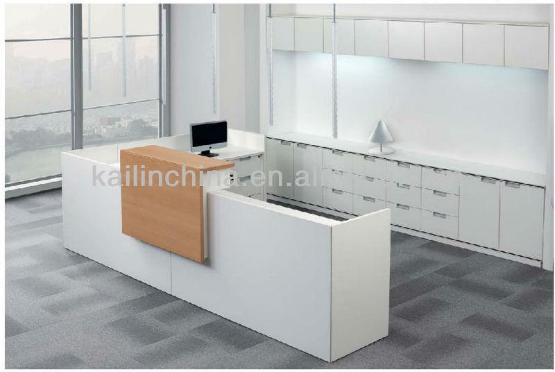 2014 muebles modernos mesa de recepci n de escritorio de for Muebles recepcion oficina