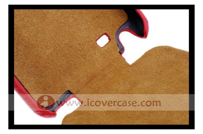 Fixed Leather Case For Samsung Note i9220 N7000 with black,white,red  50pcs/lot + free shipping