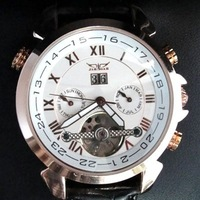 Наручные часы Stainless Steel Mens 5 Hands White dial Automatic Mechanical Watch Drop Shipping
