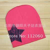 Factory cheap price MOQ 1 piece retail baby/ kids/ children five star cotton hat/knit cap