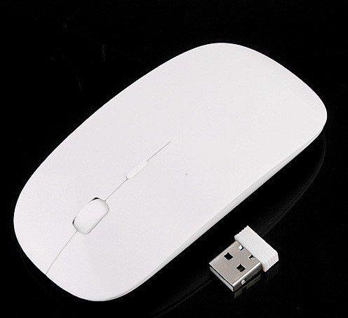 Wholesale Free Shipping Ultra Slim USB Wireless Mouse White MIni Optical Mouse 30pcs/lot