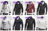 CHIC Mens Single Yoke Slim Hoodie Jacket Coat 4Colors