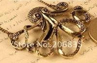 Цепочка с подвеской Vintage Retro Octopus Necklaces Long Octopus Necklace Fashion Jewelry