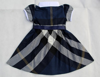 Платье для девочек 2013 new girls summer dresses kids fashion plaid dress british style childrens dress more color fit 2-6yrs 1364