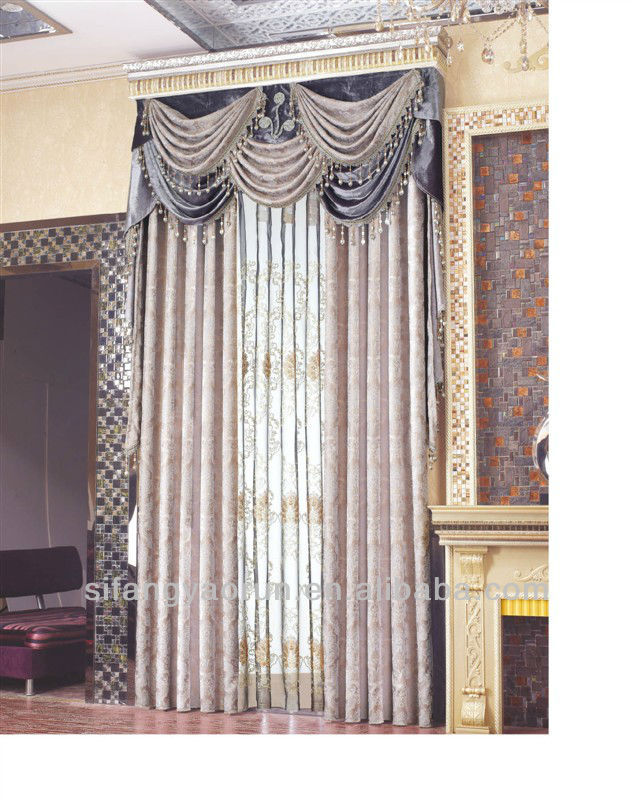 2014 the new style hotsale luxury fashion simle easy design macrame lace curtain