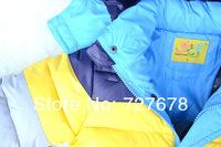 Пуховик для мальчиков 2013 New winter boy coat, striped color, boys cotton-padded jacket, Kids winter down coat, children outwear 3pcs/lot