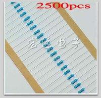 2500 шт комплект 50 значения 1/4w 5% углерода резисторы
