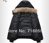Мужской пуховик NEW style! mens winter warm outwear jacket waterproof thick parka coat detachable fur collar overcoat HK Post