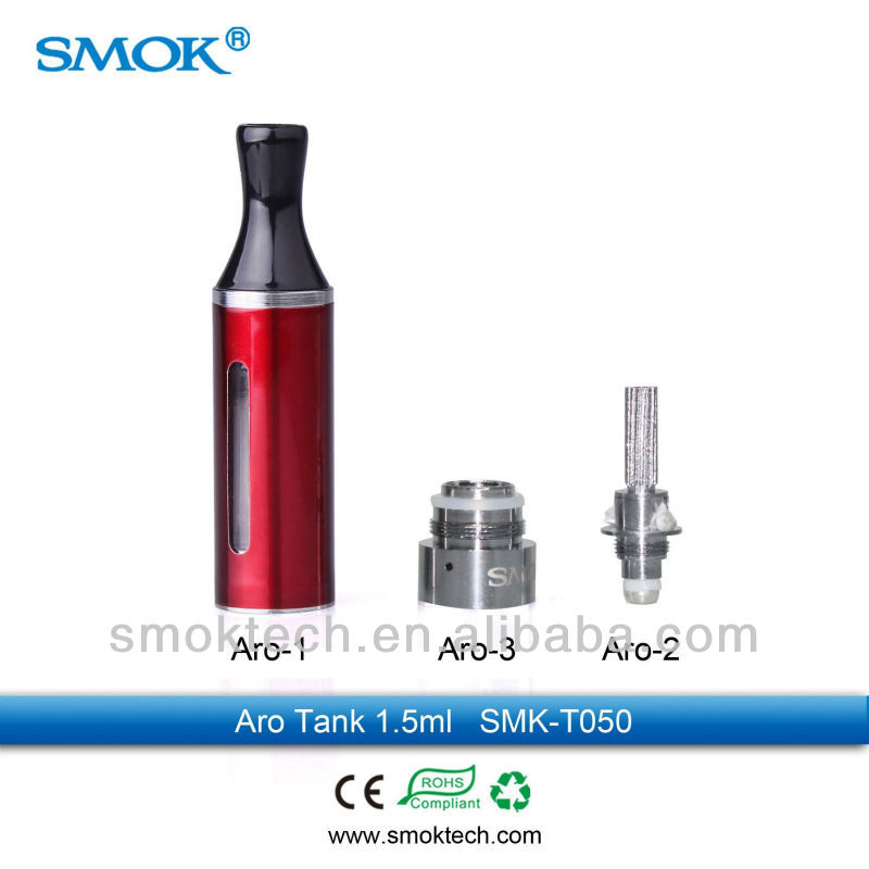 SMOKTECH 2013 Pyrex Clearomizer Evod/pyrex Aro Tank 2.0ml Bottom Heating Atomizer with Super Huge Vapor