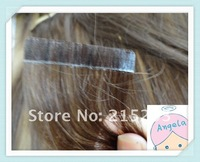 18''-28''TOP #1 jet black color straight  quality indian human remy tape/glue skin weft hair extension 2.5G/strand,40s,100G