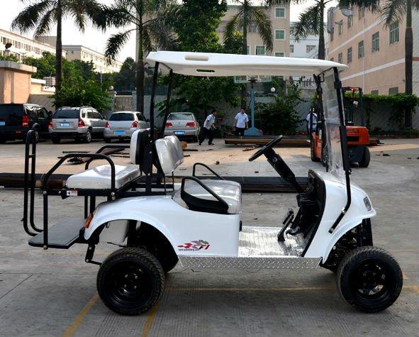 Puissant 2 places voiturettes de golf électriques de cours avec certificat CE