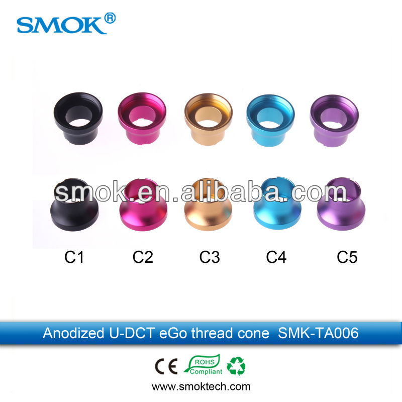 2013 Smoktech High Quality eGo Shorty Cone/eGo Thread Cover/Sleeve for 510 Atomizers/Tanks and eGo Batteries