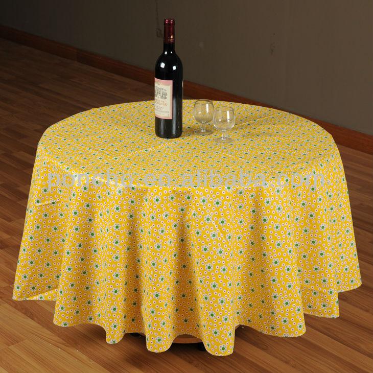 노란색 작은 깨진 꽃 플라스틱 PVC 테이블 커버/식탁보-테이블에 ...