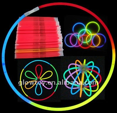 Various party festival favor glow products in the dark