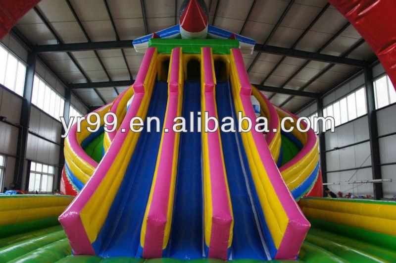 Amusement giant inflatable slide in 2015 amusement inflatable play structure inflatable trampoline