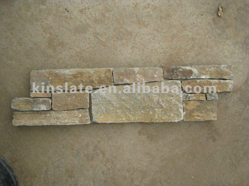 Natural Rusty Quartzite 3d Decoration Stone Wall Panel