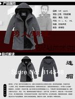 Plus Size 2012 NEW Men's Classic Korea Winter Warm Trench Coats Jackets Outwear / M-3XL Black Gray