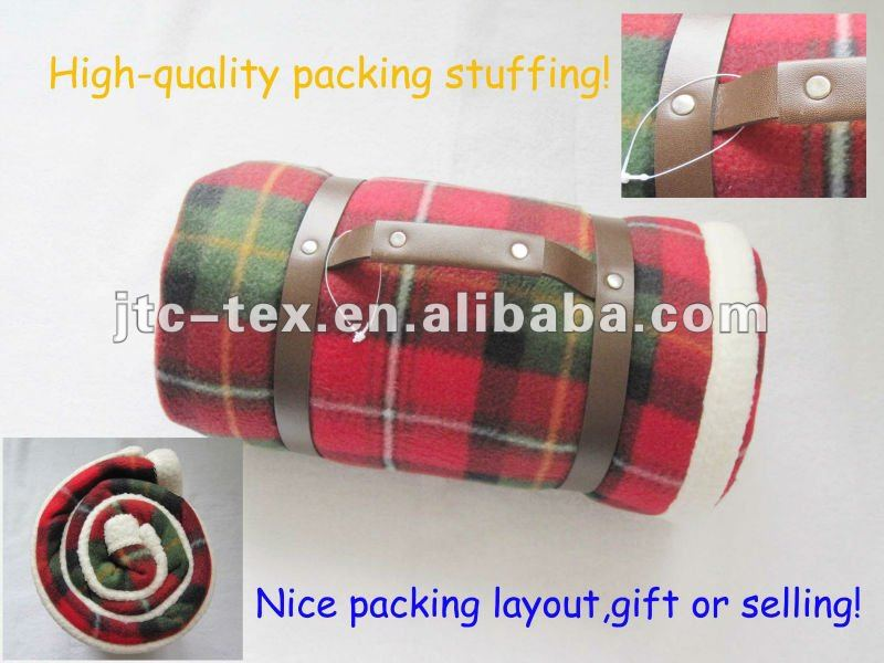 Fleece picnic polyester blanket