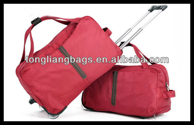 new fashion good quality trolley travel bag &luggage bag&duffel trolley bag with trolley bag with wheels rolling bag