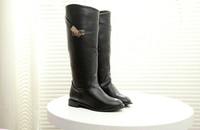 Женские ботинки HOT 2013 fashion woman knee high motorcycle boots flat waterproof casual boots autumn winter designer martins