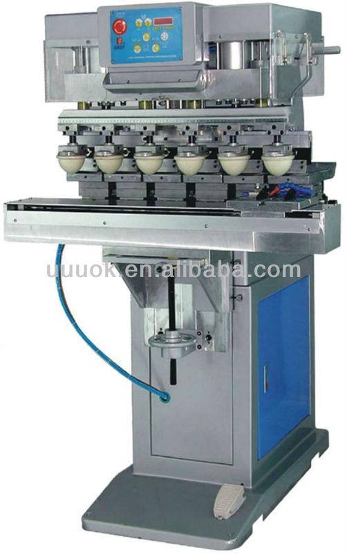 Six color pad printer machine