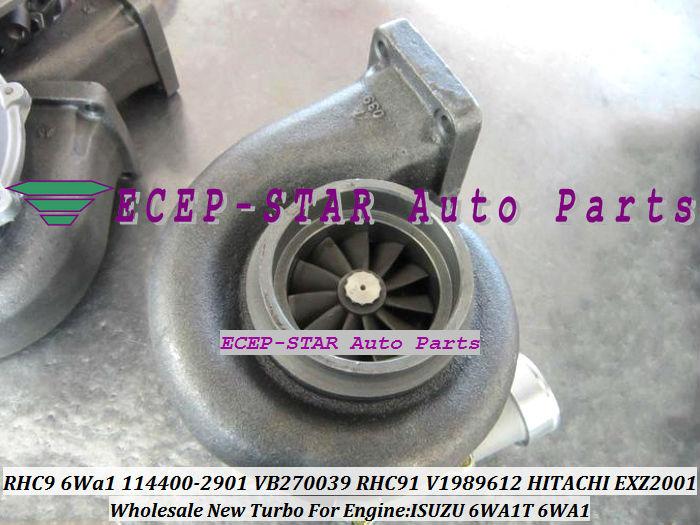 RHC9 6Wa1 114400-2901 VB270039 TURBO RHC91 114400-2901 V1989612 1980009 Turbocharger for HITACHI EXZ2001 ISUZU 6WA1T 6WA1 (3)
