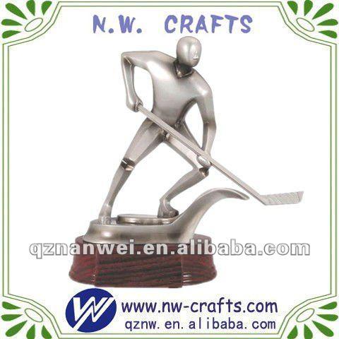 White hockey trophy