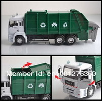 Детский набор для моделиррования Best sales! 1:32 alloy garbage truck car alloy car simulation model car shopping