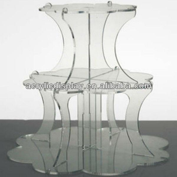 3 layer wedding cake stand crystal
