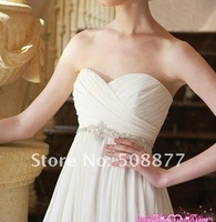 Свадебное платье Wedding dress 2011 new foreign trade bride wipes bosom wedding wedding dress tall waist show thin snow spins trailing dress